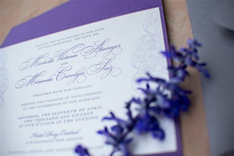 Purple Wedding Invitation Paper by Purple Lace Wedding Invitations Paper And Home