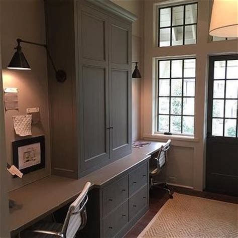 built in cabinets for home office gray desk tops design ideas
