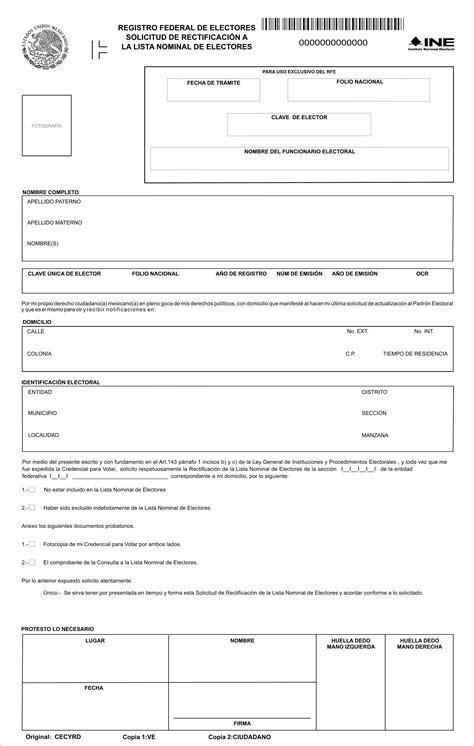 formato credencial de elector xvii requisitos y formatos para tr 225 mites ante el ife