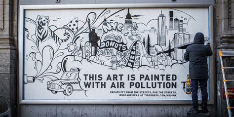 tiger beer brings art   pollution derived ink