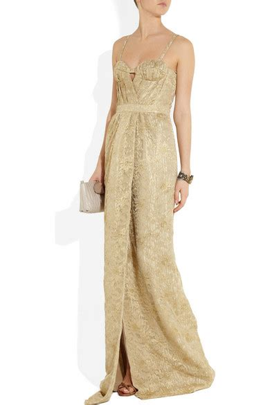 Ikn Dress Muslim Burbery burberry metallic lace gown net a porter