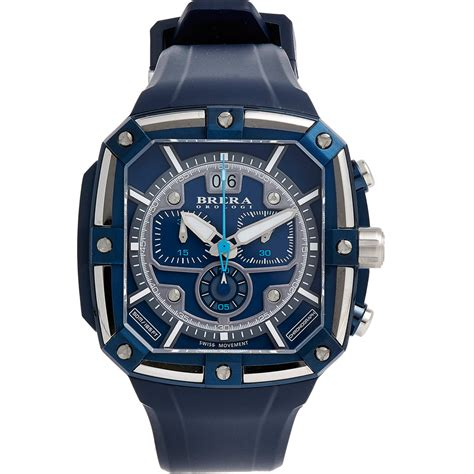 brera orologi supersportivo square in blue for