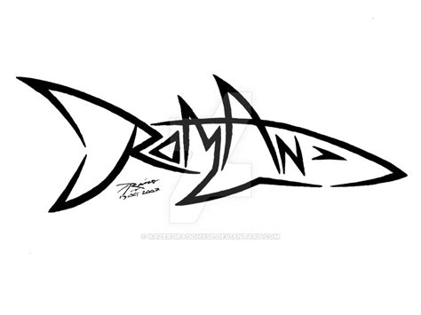 roman shark name tattoo by razerdragonxse on deviantart