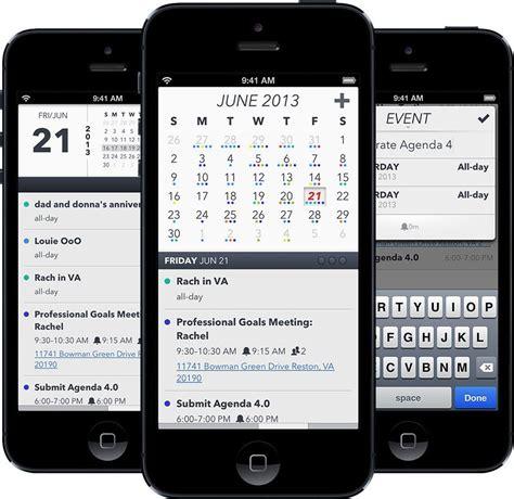calendar layout ios popular ios calendar app agenda hits version 4 0 with new