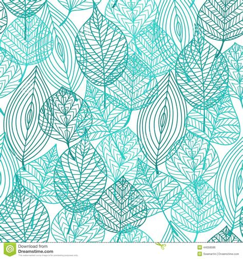 seamless pattern leaves foliage green leaves seamless pattern stock vector image