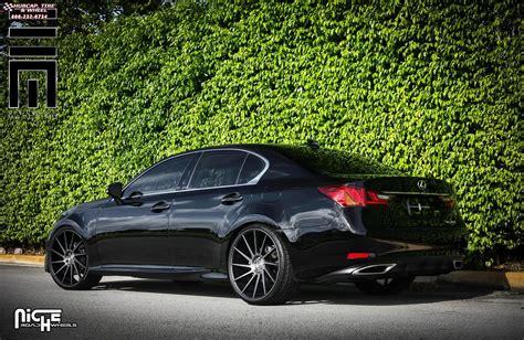 lexus gs  niche surge  wheels black machined  dark tint