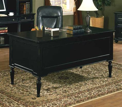 black home office desk black executive desk home furniture design