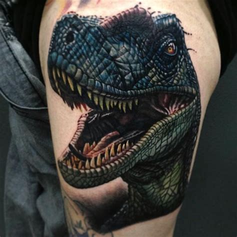 new school dinosaur tattoo angry dinosaur tattoomagz