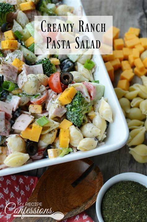 creamy ranch pasta salad family fresh meals creamy ranch pasta salad recipe