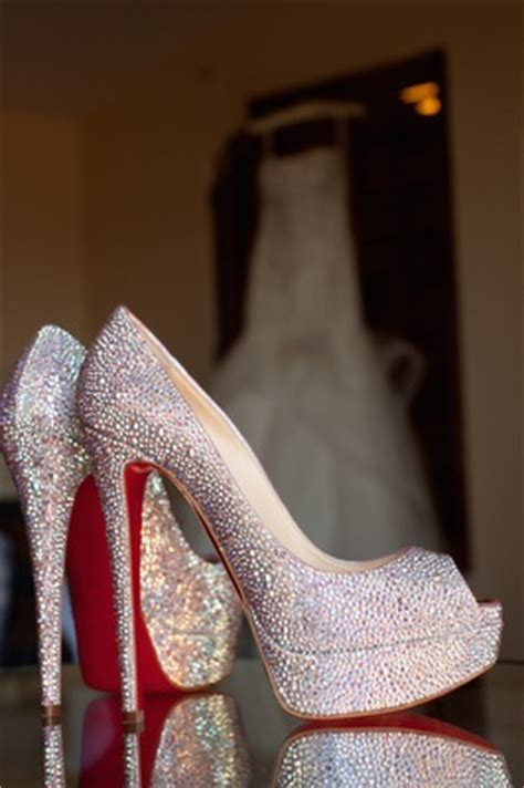High Heels Shoes Christian Lauboutin 1968 wedding shoes high heels worn by real brides inside