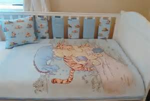 Winnie The Pooh Nursery Bedding Sets Winnie The Pooh Blue Baby Bedding Quilt Bumpers Cushion Set