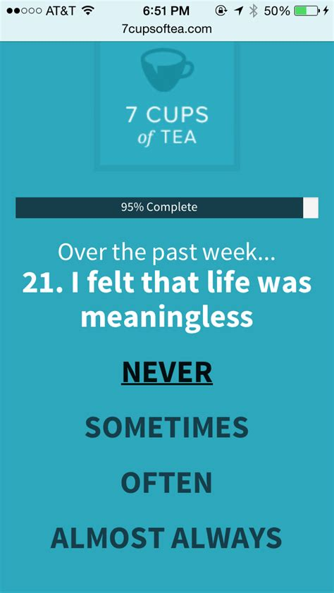is my depressed quiz depression test 7 cups of tea