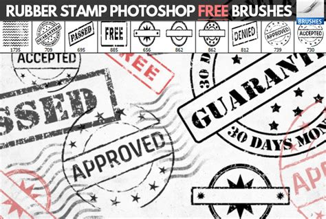 rubber st photoshop tutorial rubber st brushes for photoshop psddude