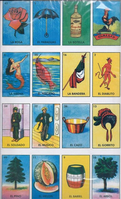 Mexican Chalupa Card Template by Large Loteria Mexican Bingo Card Bingo And Etsy