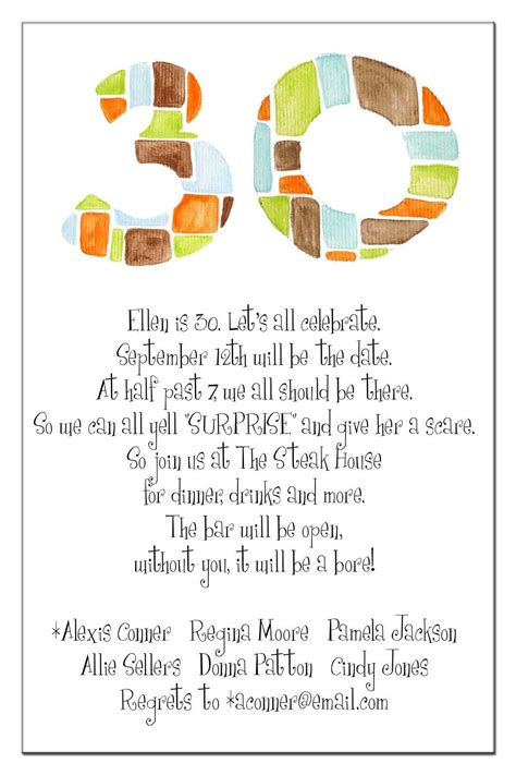 30th birthday invitations wording ideas 20 interesting 30th birthday invitations themes wording sles birthday invitations