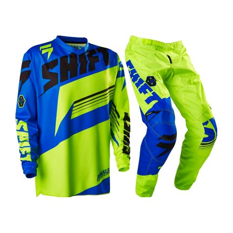 blue motocross gear shift 2016 strike blue green mx motocross jersey pants