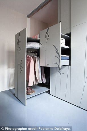 Foldaway wardrobe bed staircase and bathroom daily mail online