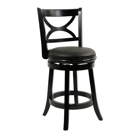 boraam florence 24 swivel counter stool in distressed white