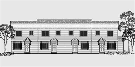 fourplex house plans fourplex townhouse house plan fourplex house plans 2 story townhouse f 535