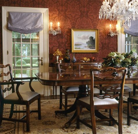 Georgian Dining Room by Commercial Design Robin Muto Robin Muto Interiors