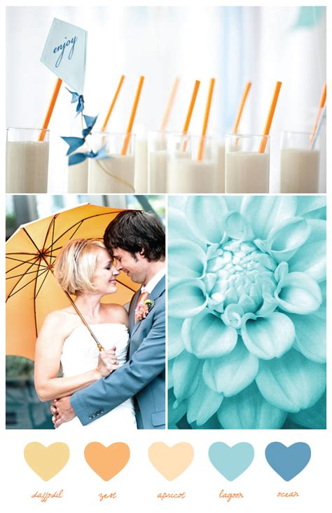 blue color palette wedding color pallette blue and orange on