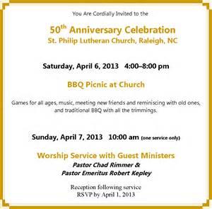 Sample invitation letter church anniversary celebration ayo ngopi sample invitation letter church anniversary celebration 3 stopboris Images