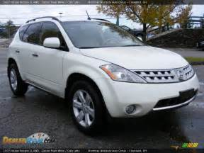 2007 Nissan Murano Sl Awd 2007 Nissan Murano Sl Awd Glacier Pearl White Cafe Latte