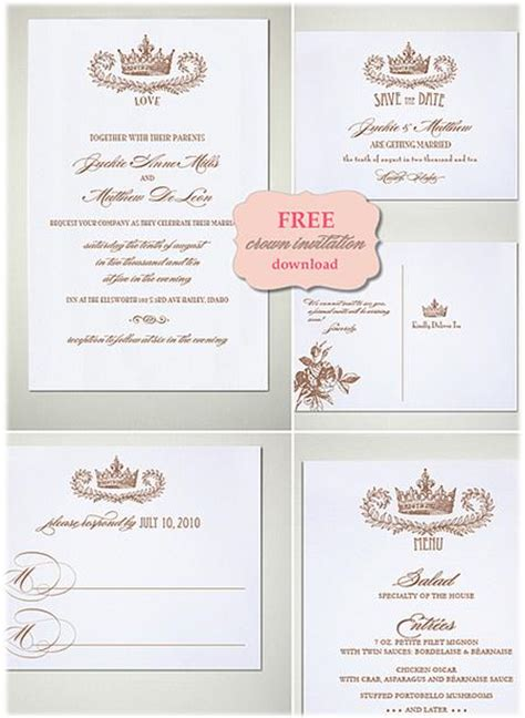 free printable crown invitations 15 diy vintage wedding invitations vintage save the dates