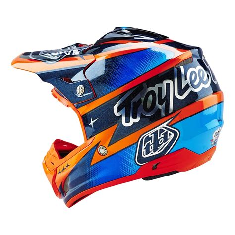 tld motocross helmets troy designs 2016 team se3 helmet orange navy