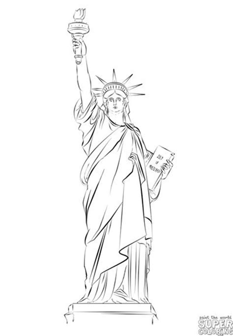 statue of liberty drawing template how to draw the statue of liberty step by step drawing
