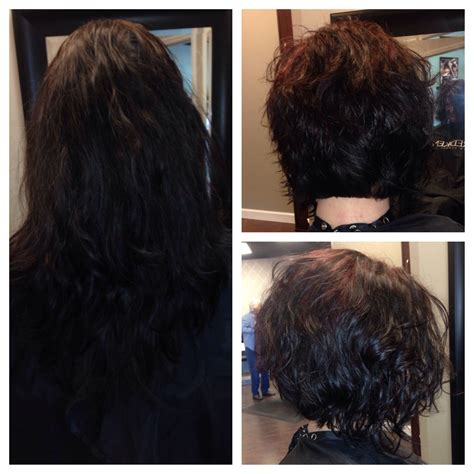 stacked curls before and after stacked curly bob our stylist work