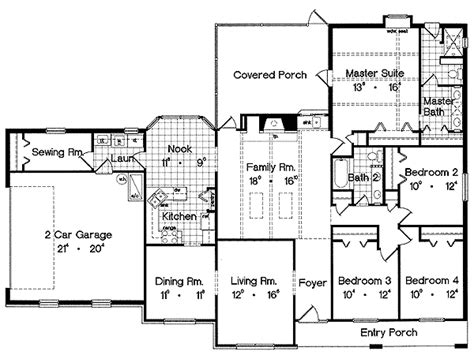 ranch style floor plans ranch style house plans with a view cottage house plans