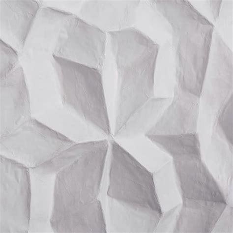 How To Make Paper Mache Wall - papier mache wall geo panel west elm