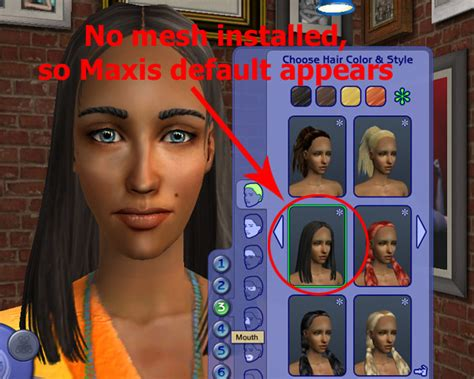 sims 2 custom content hair game help getting custom content to show up 2 simswiki