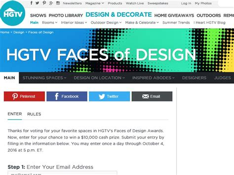 Giveaway Sweepstakes - hgtv com s faces of design awards giveaway sweepstakes