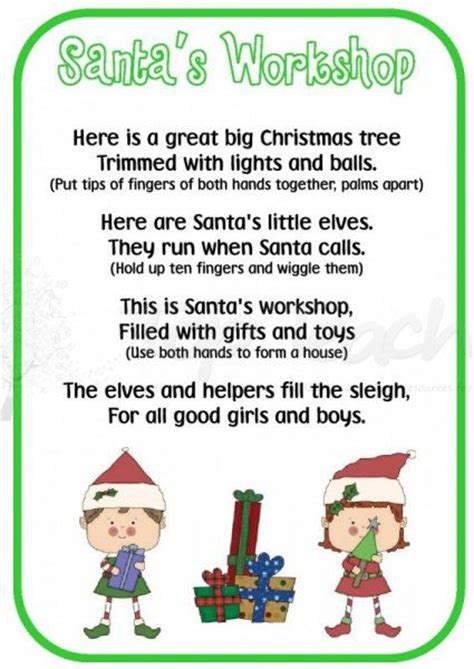 christmss preschool poems printable poems happy holidays