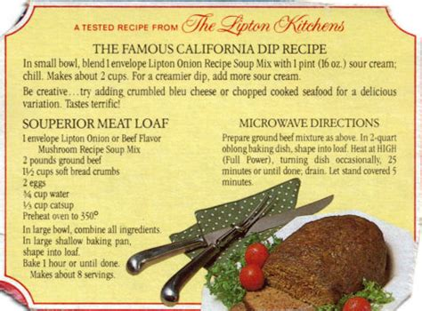lipton s meat loaf recipe 171 recipecurio com