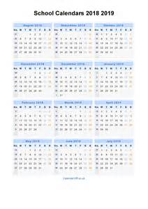 School Calendar 2018 Uk School Calendars 2018 2019 Calendar From August 2018 To