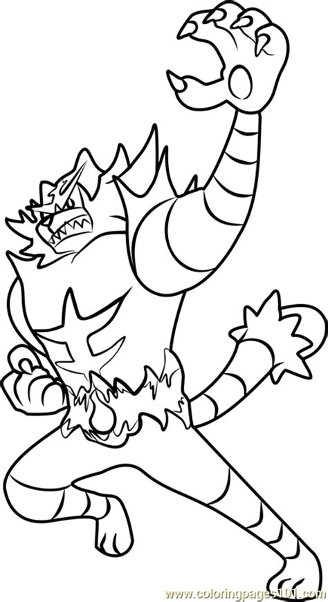coloring pages pokemon sun and moon incineroar pokemon sun and moon coloring page free