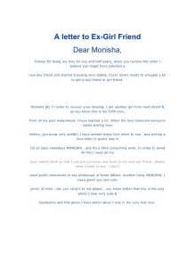 Thanksgiving Letter To Boyfriend A Letter To Ex Girlfriend
