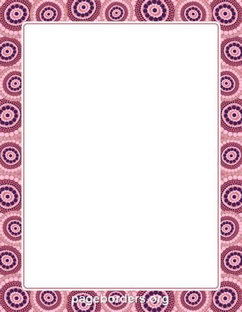 pattern writing frame printable aboriginal border use the border in microsoft