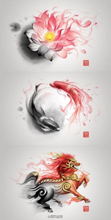 tattoo chinese lotus beautiful flowing shape i love chinese art my next