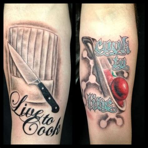 chef tattoo designs bobby did some chef tattoos the other day