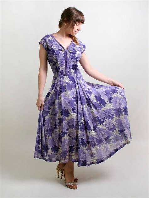 light lavender maxi dress vintage 1940s floral dress light lavender garden