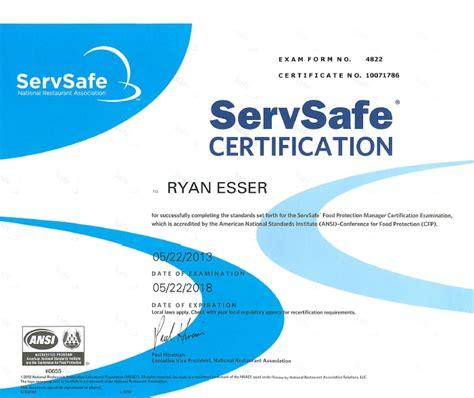 Servsafe Certificate Template dang dogs llc sanitation rating insurance