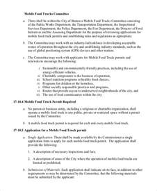 business plan for food truck template sle food truck business plan 7 exles in pdf