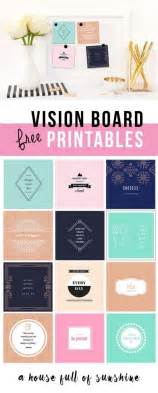 Printable Board Template by Free Vision Board Printables 24 7