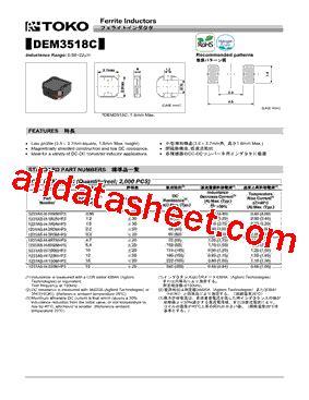 toko inductor datasheet 1231as h 120m datasheet pdf toko inc