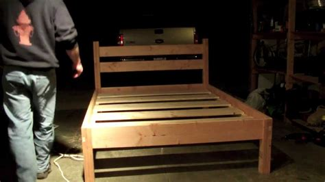 How To Make A King Size Platform Bed - queen bed frame youtube