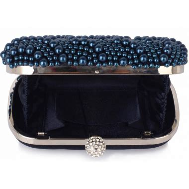 navy beaded clutch wholesale navy beaded pearl rhinestone clutch bag